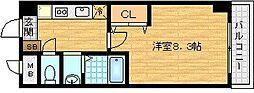 ブランメゾン堀川[9階]の間取り