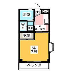 アクアハイム三島[1階]の間取り