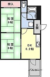 ハウスS&Y[402号室号室]の間取り