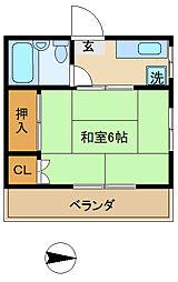 コ−ポ円山[3階]の間取り