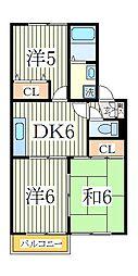 ピュアタウン南逆井B[2階]の間取り