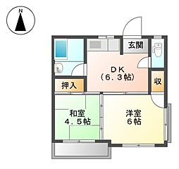 アビリア徳川[2階]の間取り