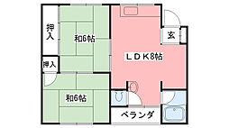 トキワマンション[2階]の間取り