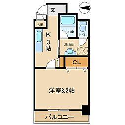 兵庫県尼崎市浜2丁目の賃貸マンションの間取り