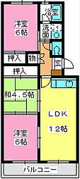 レークサイドパーク[201号室]の間取り