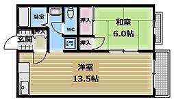 アイケイハイツ高井田[2階]の間取り