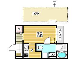 グランヴィア北花田[2階]の間取り
