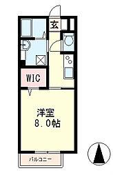 滋賀県近江八幡市堀上町の賃貸アパートの間取り