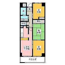 ラフィネ南十一番[2階]の間取り