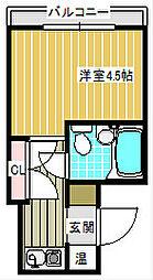 大阪府大阪市住之江区平林南2丁目の賃貸マンションの間取り