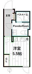 プライムブリス東高円寺 4階ワンルームの間取り