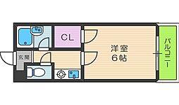 Collection西田辺[9階]の間取り