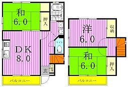 [タウンハウス] 千葉県松戸市栄町3丁目 の賃貸【/】の間取り
