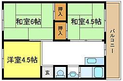万福社宅[3階]の間取り