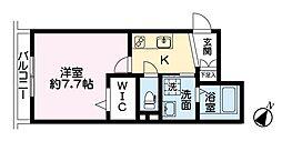 KMBマンション 2階1Kの間取り