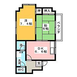 エクセル渡辺[4階]の間取り