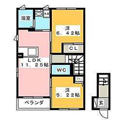 マーベラスC[2階]の間取り