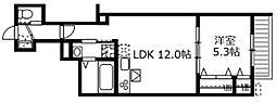 神奈川県鎌倉市由比ガ浜2丁目の賃貸アパートの間取り