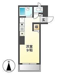 ヴィラ千成[3階]の間取り