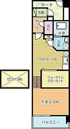ルピナス守恒[2階]の間取り