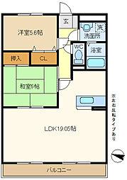 第2エステートシライシ 203[2階]の間取り