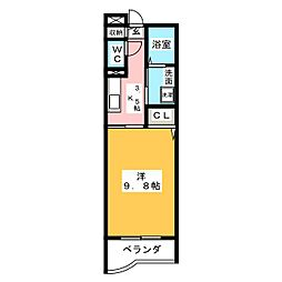 ハピーライフ平田[3階]の間取り