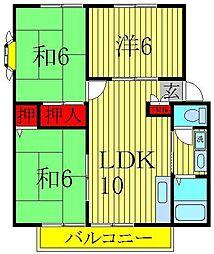 サンヴィレッジ松島 E[101号室]の間取り