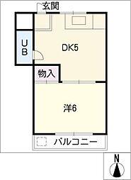 コンパルM[1階]の間取り