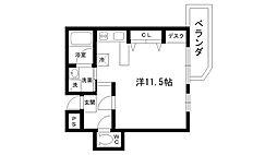 レグルス桜夙川[104号室]の間取り