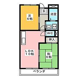 メゾン静[3階]の間取り