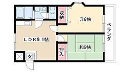愛知県名古屋市守山区幸心4丁目の賃貸マンションの間取り