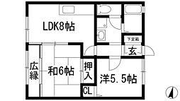 メゾン弥栄[2階]の間取り