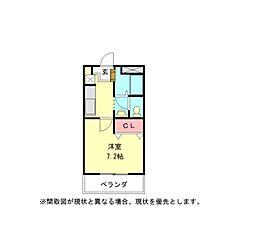 愛知県岩倉市大山寺町の賃貸アパートの間取り