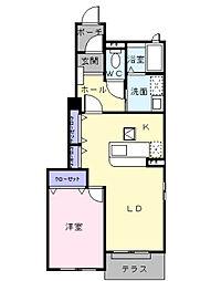 サニーレジデンス II番館[1階]の間取り