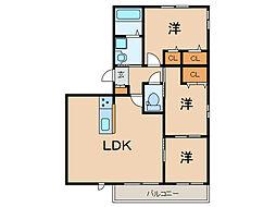 Long Bonheurf 天神南 A棟(新築) 2階3LDKの間取り