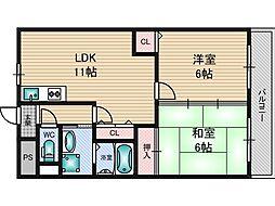 メゾン・ドゥ・ソレイユ[6階]の間取り