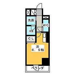 ベレーサ築地口ステーションタワー[10階]の間取り