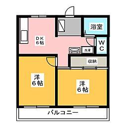 メゾン入野[1階]の間取り