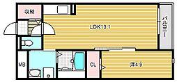 ミ ライズ[1階]の間取り