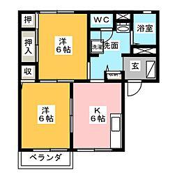 サンモールS A[2階]の間取り