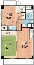 マジョール松崎町[2階]の間取り
