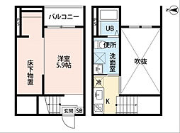 Vivienda 名古屋[2階]の間取り