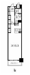 山陽電鉄本線 山陽姫路駅 徒歩20分の賃貸マンション 8階ワンルームの間取り