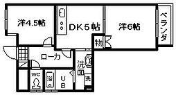 サンシャイン道野[502号室]の間取り