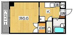 デミ洛北[8階]の間取り