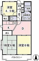 神奈川県相模原市緑区橋本1丁目の賃貸マンションの間取り