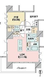 東京メトロ有楽町線 江戸川橋駅 徒歩5分の賃貸マンション 11階1LDKの間取り