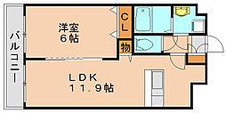 グローヴガーデン E[5階]の間取り