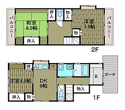 [一戸建] 神奈川県相模原市南区古淵6丁目 の賃貸【/】の間取り