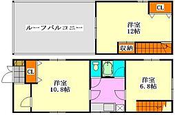 [一戸建] 千葉県船橋市二和東2丁目 の賃貸【/】の間取り